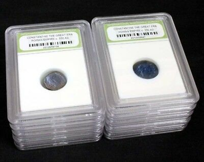 10 Slabbed Ancient Roman Constantine the Great Coins Nice Quality c 330 AD a6