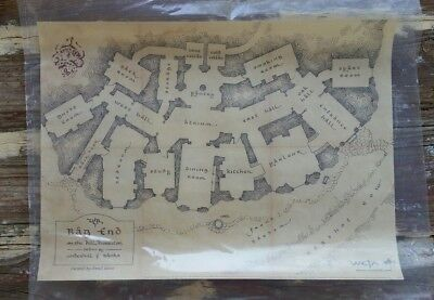 WETA The Hobbit Bag End Floor Plan Map Parchment Print - New