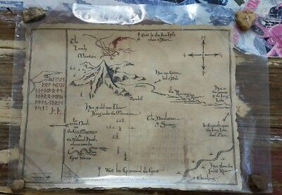 WETA The Hobbit Thorin's Map Parchment Print - New