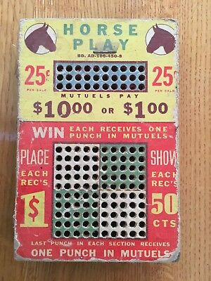 Gambling Horse Play Cigarette Board