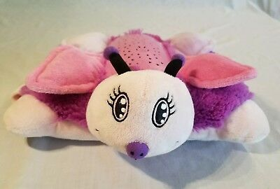 Dream Lites Pink & Purple Butterfly Pillow Pets Night Light In Great Condition