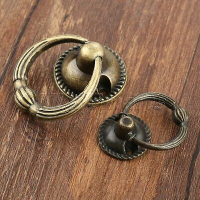 Retro Cupboard Door Cabinet Knob Ring Drawer Pull Handle Furniture Hardware 1pc