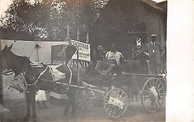 c.1910 RPPC Vaudeville Wagon & Actors