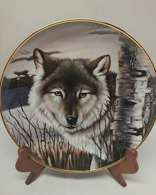 """Franklin Mint Limited Edition Wolf Collector Plate """"Pride of th Wilderness"""" COA"""