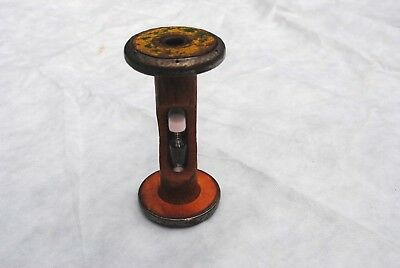 Vintage Victorian English Wooden Mill Bobbin made into Egg Timer 1940's