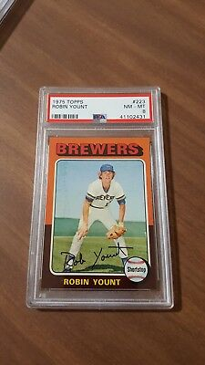 1975 Topps #223 Robin Yount Rc Rookie   Psa 8 Nm-Mt