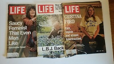 Lot of 3 Vintage LIFE Magazines (May/June 1971)
