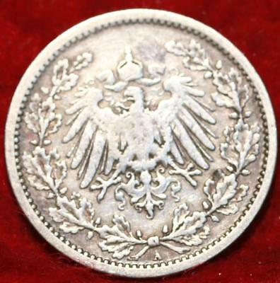1907A Germany 1/2 Mark Silver Foreign Coin