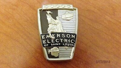 EMERSON ELECTRIC Advertising Plate Logo For Vintage Fan