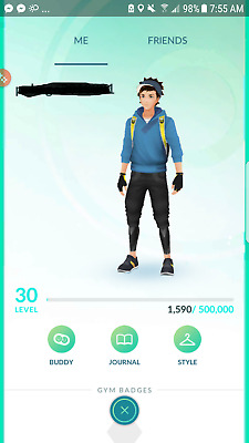 Pokemon-Go-account Level 30 - Choose team - No Ban