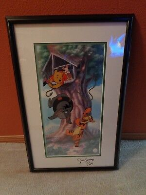 """Disney's - Winnie The Pooh """"Swing Time With Eeyore"""" Limited Edition Sericel - Co"""