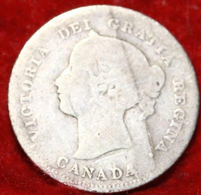 1870 Canada 10 Cents Silver Foreign Coin