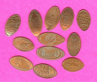 Hawaii Pearl Harbor's WWII Dole Kauai Honolulu Maui Elongated Smashed Penny Lot