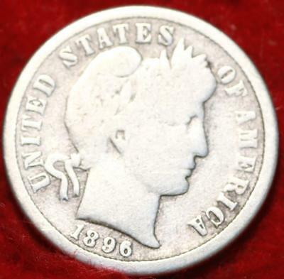 1896-O New Orleans Mint Silver Barber Dime