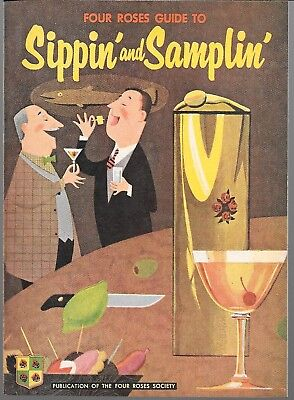 Four Roses Guide to Sippin' And Samplin '60s Harvey File Copy Promo NM- FREES/H