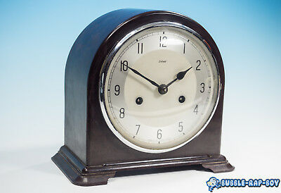 Vintage Smiths Enfield Bakelite 8 Day Mantel Clock -Working With Key