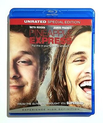 Pineapple Express (2008) Like New UNRATED Blu-ray Seth Rogen, James Franco