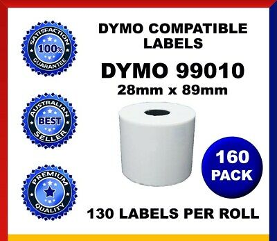 160 Rolls Dymo Seiko Compatible 99010 Labels 28mm x 89mm Labelwriter SD99010