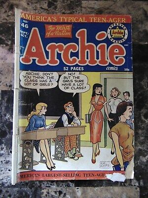 ARCHIE Comics The Mirth of a Nation No 46 Sept-Oct 1950 Headlights Cover