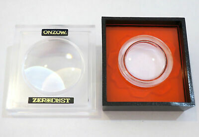 Onzow Zero Dust RED Stylus Cleaner + Magnifying Lid New Needle Turntable Accesso