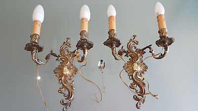 Vintage Decorative Wall Sconces From A Demolition & Still In Good Condntion.