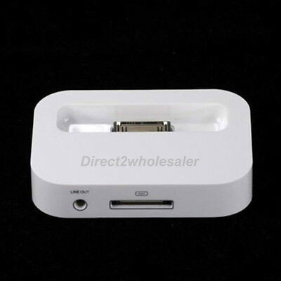 White New Charger Docking Charging Sync Stand Dock Cradle For iPhone4 4s 3G US