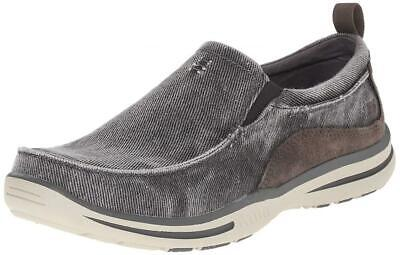 Skechers Relaxed Fit Elected Drigo  Men's Slip-On Moc Toe Loafer Canvas Shoe