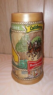 Collectible Vintage 1981 California Budweiser Beer Stein Limited Edition Mug