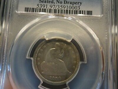 1838 25C Seated Liberty Pcgs Genuine Fine Details