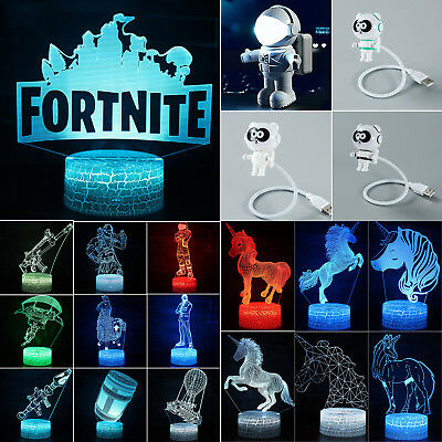 FORTNITE LED Night Light USB Table Desk Lamp Kids Bedroom Nursery Lighting Xmas
