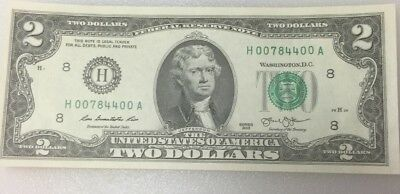 Mint, Uncirculated Two Dollar Bill, Crisp $2 Note, Sequential Order Up to 50