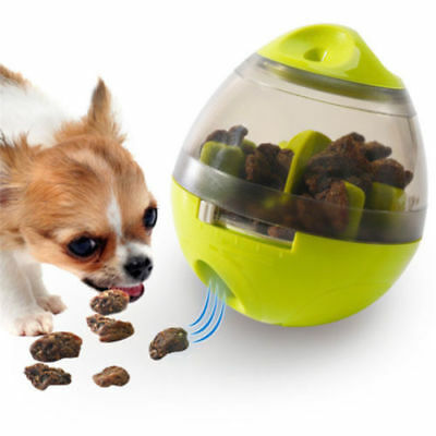 Pet Dog Cat Funny Tumbler Treat Dispensing Food Ball Dispenser Interactive Toy T