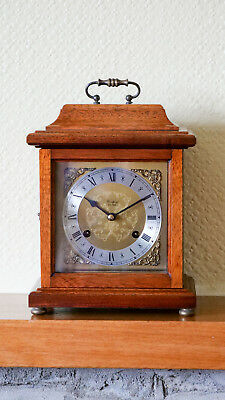 Woodford Mahogany Mantle Bracket Clock Franz Hermle With Chimes