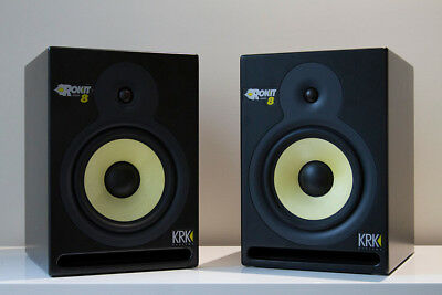 KRK Rokit 8 G1 (Pair) Portable Powered Studio Monitors, Active Speakers