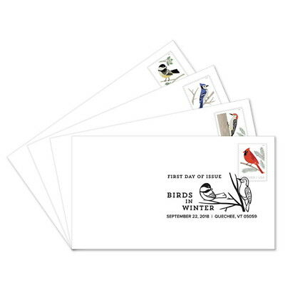USPS New Birds in Winter First Day Cover (Set of 4)