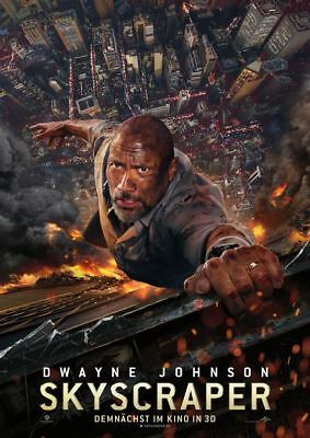 SKYSCRAPER ~ Filmposter A1 ~ Dwayne Johnson, The Rock