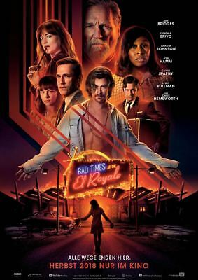 BAD TIMES AT THE EL ROYALE ~ Filmposter A1 ~ Jeff Bridges, Chris Hemsworth