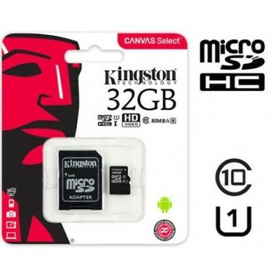 10x Kingston Micro SD SDHC memory Card Class 10 32GB Memory with SD card Adapter