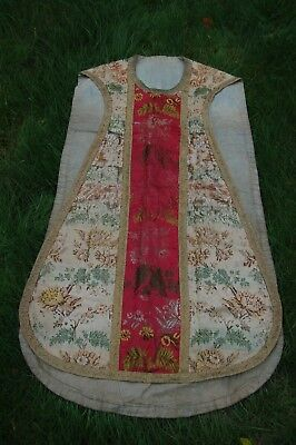 18th/19th century silk embroidered French/Italian Priests Chasuble