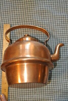 OLD COPPER Teapot Marked 2