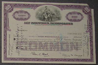ACF Industries, Incorporated 1976 100 Shares