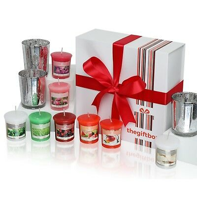 Luxurious Scented Candle Gift Set by The Gift Box. Comprises 8 Different Beautif