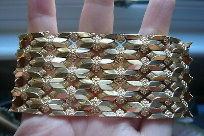 Superb Heavy Vintage 18 Carat Gold Bracelet 78 grams