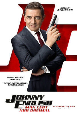 JOHNNY ENGLISH 3 - MAN LEBT NUR DREIMAL ~ Filmposter A1 ~ Rowan Atkinson