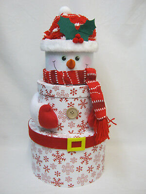 Nikolausstiefel Stacking Boxes Set Of 3 Snowman Christmas Novelty Stocking Gifts Presents Idea Mobel Wohnen