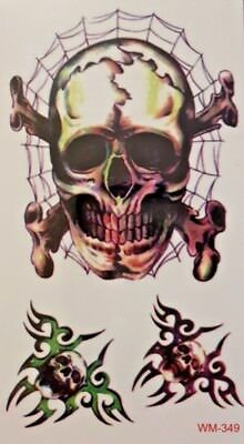 skull small temporary tattoo
