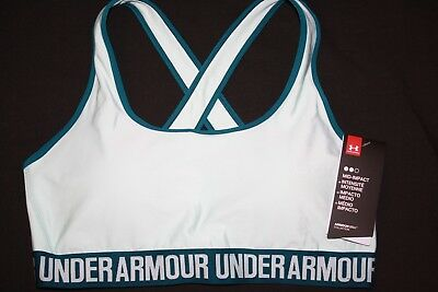 06e0fc11a029e UNDER ARMOUR Women s Compression Mid-Impact Crossback Sports Bra NWT Size   XL