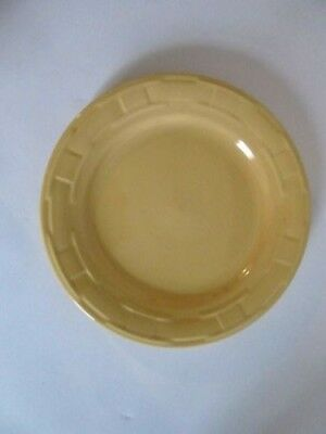 "LONGABERGER Pottery Woven Traditions 10"" DINNER Plate  BUTTERNUT YELLOW"