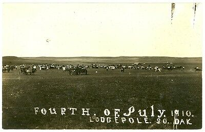 2 Lodgepole South Dakota July 4th 1910 Real Photo Postcards Western Plains RPPC
