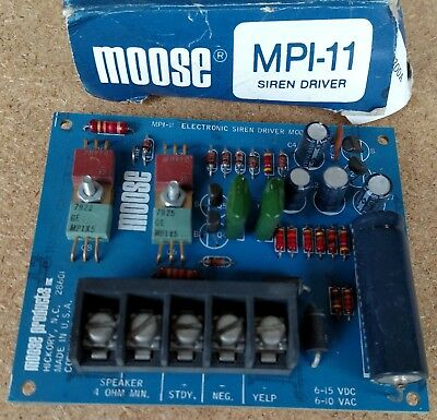 Moose Products MPI-11 Siren Driver – 2 channels (yelp & steady)